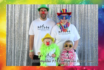 2018 Highline PTA Family Color Run and Games