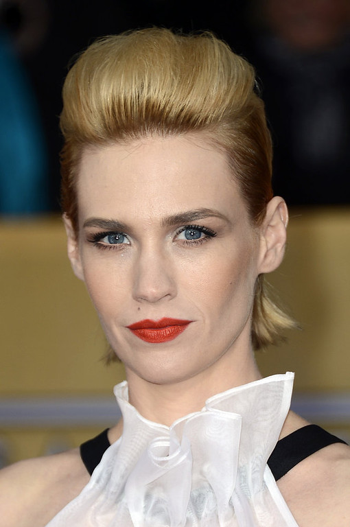 . LOS ANGELES, CA - JANUARY 27:  Actress January Jones arrives at the 19th Annual Screen Actors Guild Awards held at The Shrine Auditorium on January 27, 2013 in Los Angeles, California.  (Photo by Frazer Harrison/Getty Images)