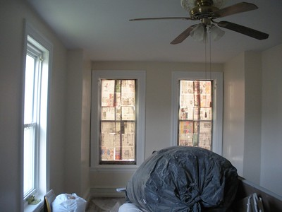 Room sheetrocked at 40th & Spingfield area.