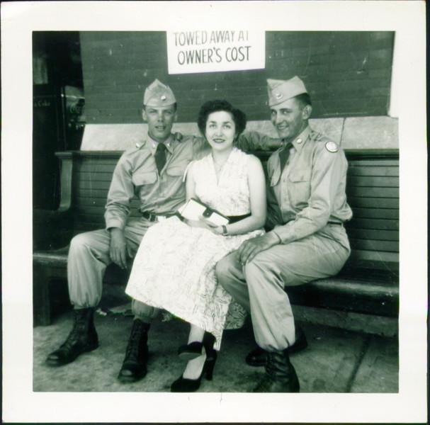 Soldiers and Inge Schroeder
