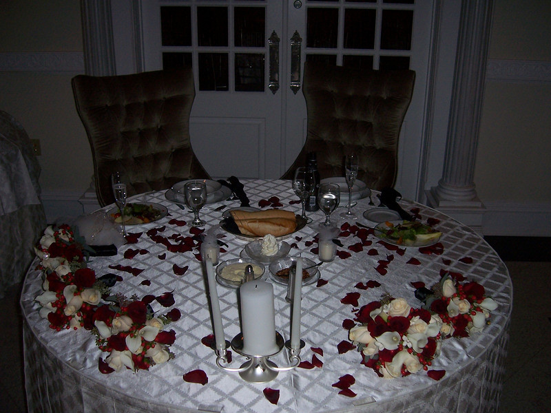 The beautiful table setting.