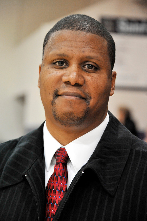 . LONG BEACH - 11/30/2012 - (Mark Savage) BOYS BASKETBALL: St. Anthony vs. Valley Christian. St. Anthony coach Eric Cooper.