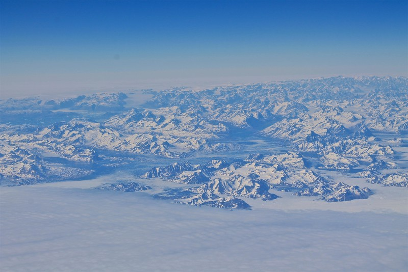 Greenland from the airplane window