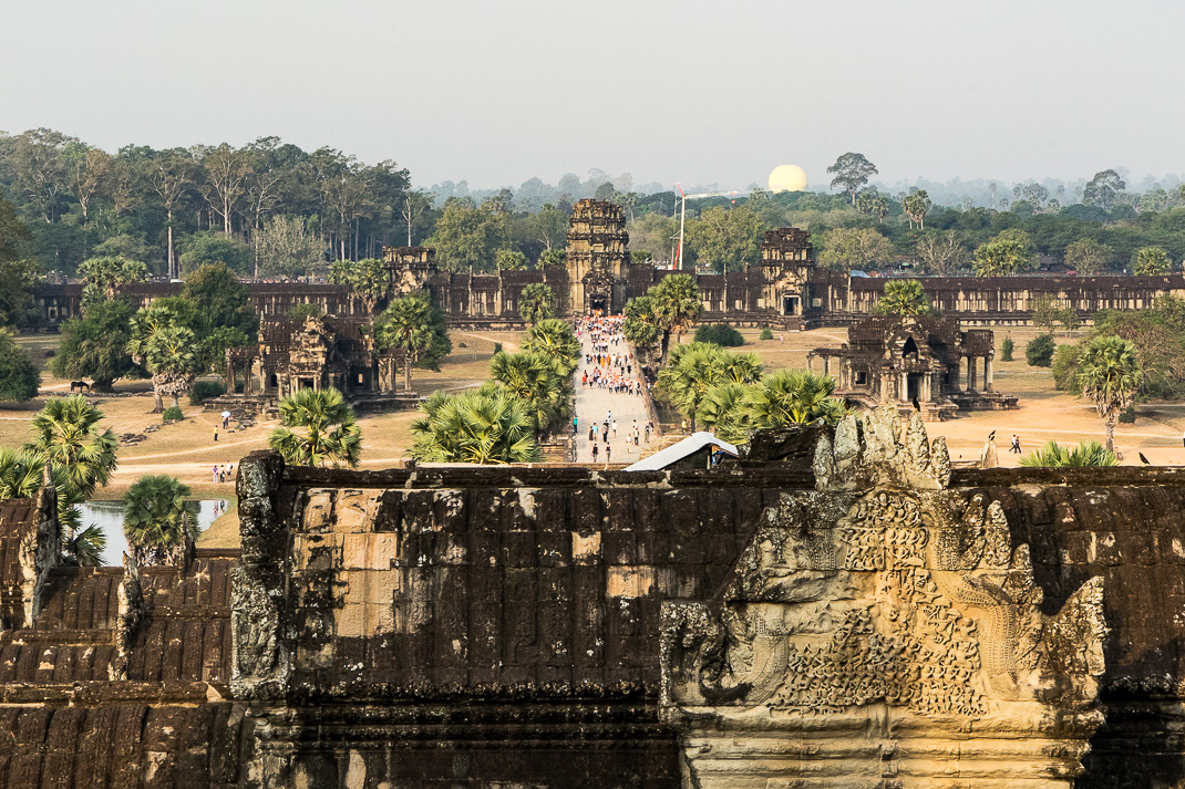 Angkor Wat Entrance View