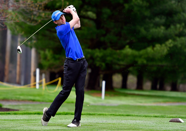 4/30/2019 Mike Orazzi | Staff Bristol Eastern's Drew Fries during Tuesday's match with Bristol Central at Chippanee Golf Club.