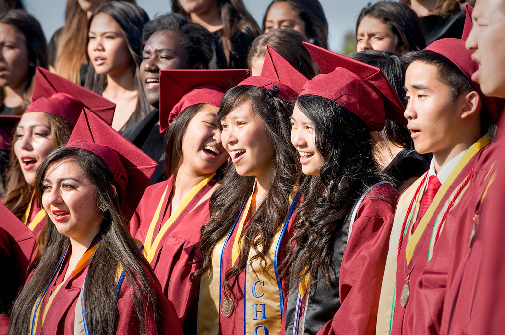 . The Voices of Wilson singers perform at Wilson High\'s 46th annual commencement exercises at the Hacienda Heights campus May 20, 2013.    (SGV Tribune staff photo by Leo Jarzomb)