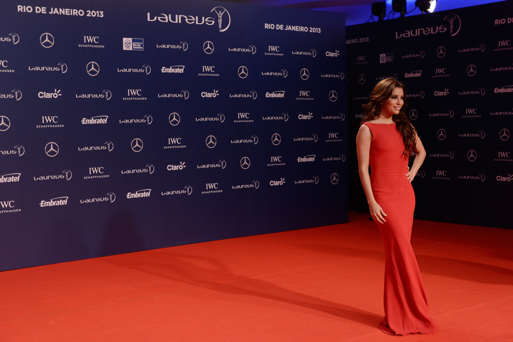 . Actress Eva Longoria attends the 2013 Laureus World Sports Awards at the Theatro Municipal Do Rio de Janeiro on March 11, 2013 in Rio de Janeiro, Brazil.  (Photo by Buda Mendes/Getty Images For Laureus)