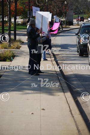 Occupy Elgin on Kimball Street Bridge in Elgin, IL 10-22-11