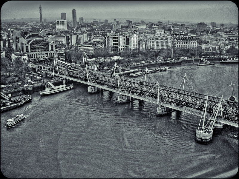 View of London along Thames from the London Eye