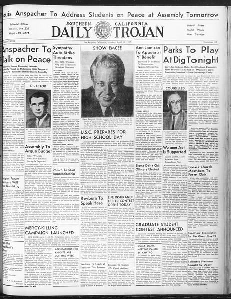 Daily Trojan, Vol. 28, No. 118, April 19, 1937