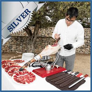 40303 Spanish ham cut by maestro cortador Silver