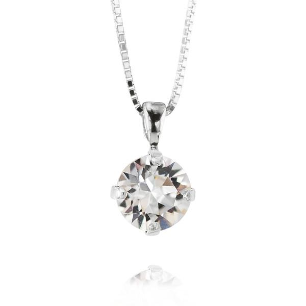 Petite Stud Necklace / Crystal Rhodium