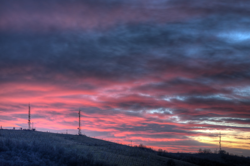 Sunset - Via Monte Evangelo, Scandiano, Reggio Emilia, Italy - January 6, 2013