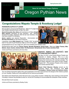 Knights Of Pythias News Letter