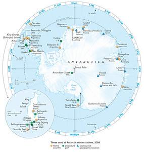 antarctica-timezones