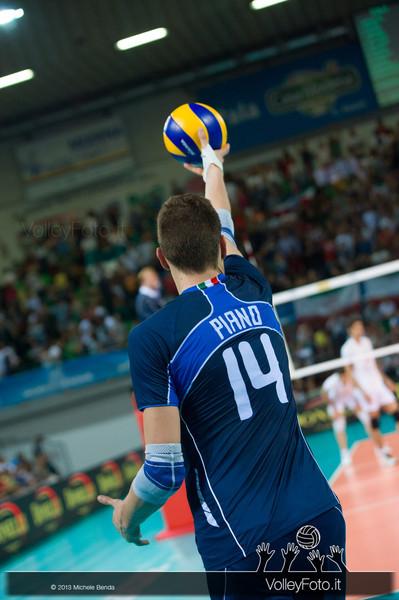 Matteo Piano [ITA] battuta - Italia-Iran, World League 2013 - Modena
