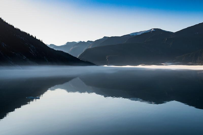 Sunlit Morning Fog- AK