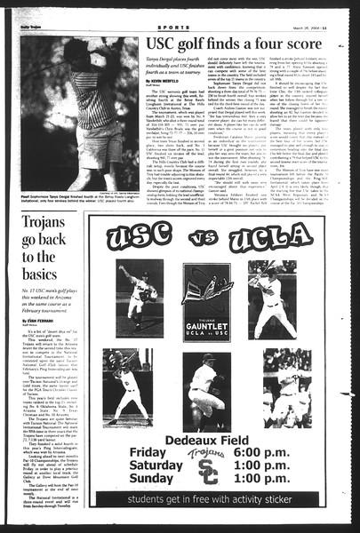 Daily Trojan, Vol. 151, No. 43, March 26, 2004