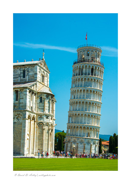 Campo dei Miracoli (field of miracles) Cathedral and Bell Tower- (leaning tower), Pisa, Italy