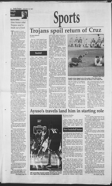 Daily Trojan, Vol. 130, No. 13, January 29, 1997