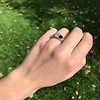 1.55ctw Old Mine Cut and Sapphire Gypsy Ring, GIA 10