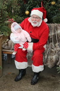 Jax's Santa Visit with Grandpa and Grandma 120118