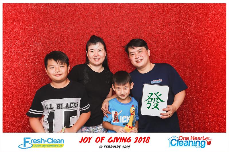 Joy of Giving 2018 | © www.SRSLYPhotobooth.sg