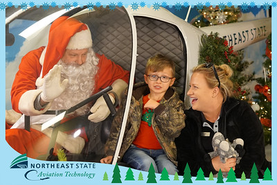 Santa and Aviation Technology Helicopter, Dec. 19, 2019