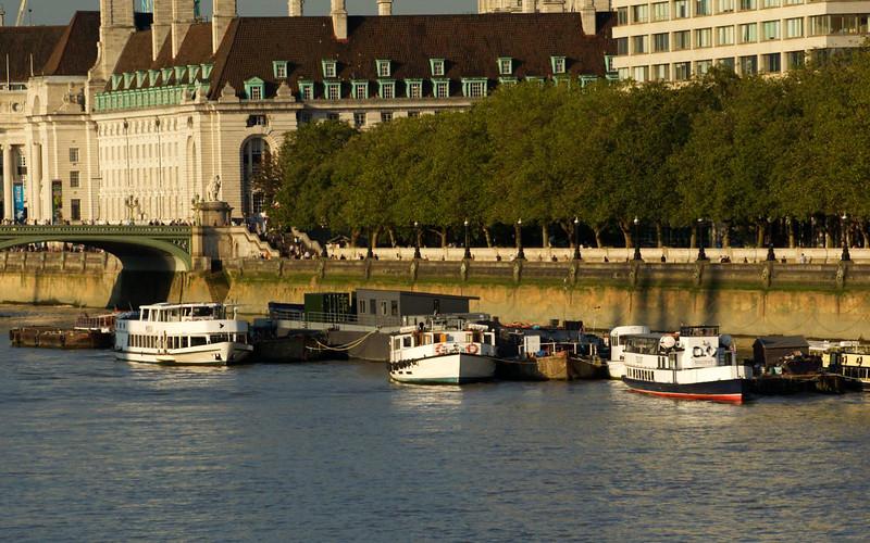 Docked Along The Thames