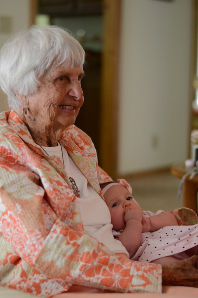Great Aunt Poppy visits Rose