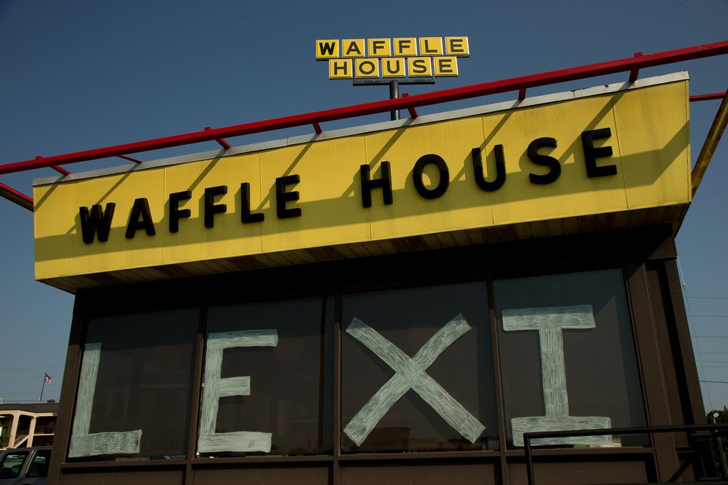 """. <p>10. (tie) WAFFLE HOUSE <p>Does the Teacher Threesome come with pancakes? (unranked) <p><b><a href=\'http://www.nydailynews.com/news/crime/married-teacher-bedded-students-classroom-waffle-house-police-article-1.1729783\' target=\""""_blank\""""> HUH?</a></b> <p>    (Darren Carroll/Getty Images)"""