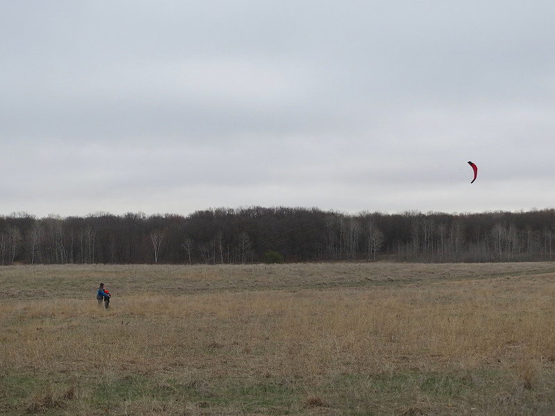 Flying a kite in Wild River State Park Minnesota.