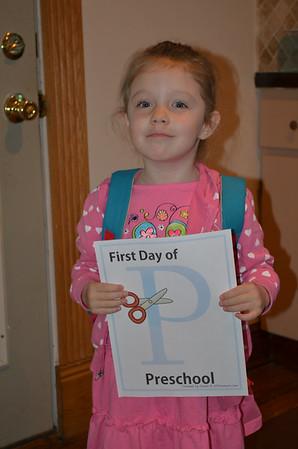 Maddie v. 1st day of Preschool