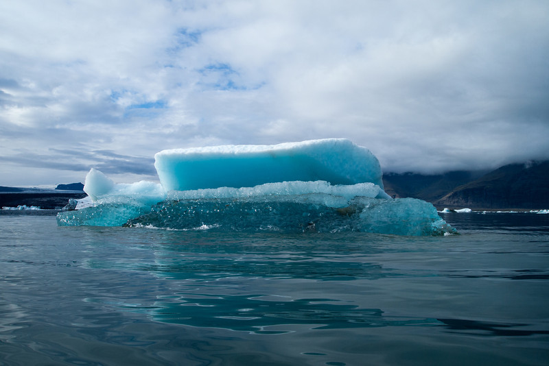 Iceburg tipping over