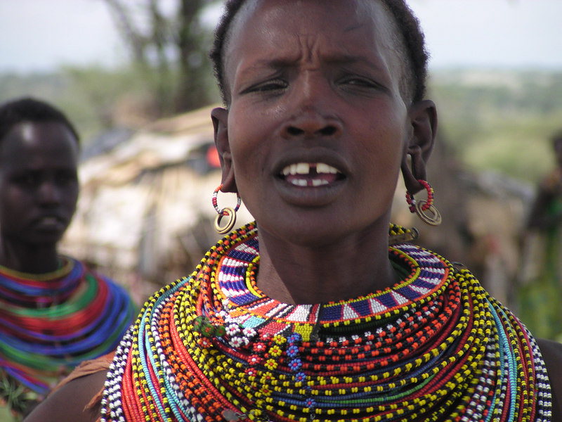 The Samburu Tribe of northern Kenya.  I felt honored to purchase a hand-made, beaded necklace from this woman.