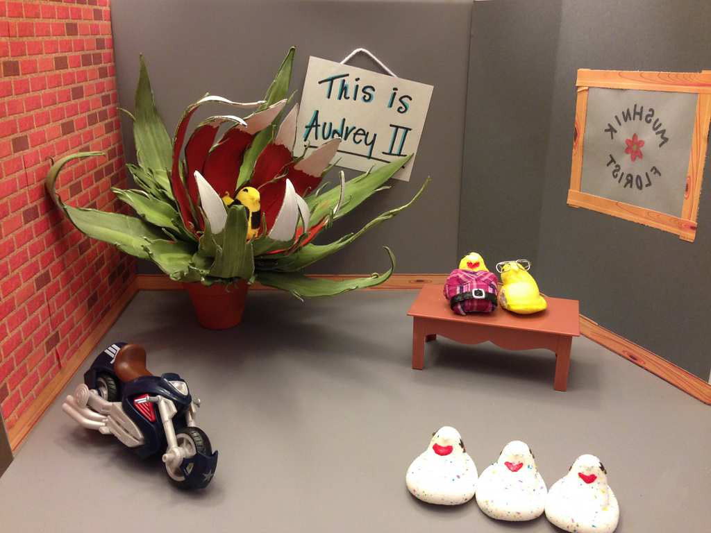 """. \""""Little PEEP of Horrors,\"""" by Sara, Kelly and Emily Klein of Stillwater"""