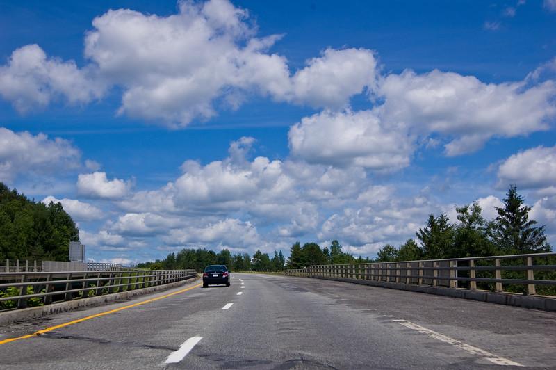Heading over some random bridge
