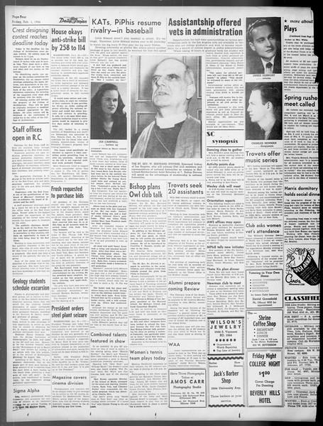 Daily Trojan, Vol. 37, No. 62, February 01, 1946