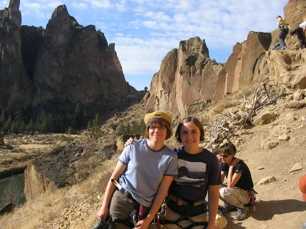 Me and Betsy at the first climb of the day.