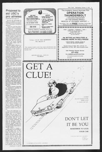 Daily Trojan, Vol. 87, No. 13, October 03, 1979