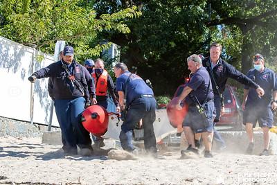Water Rescue - Break Wall, Stamford, CT - 9/20/20