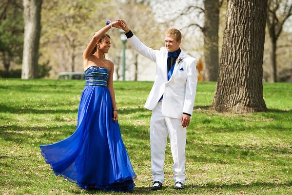Pre Prom Photos at Minnehaha Falls Park