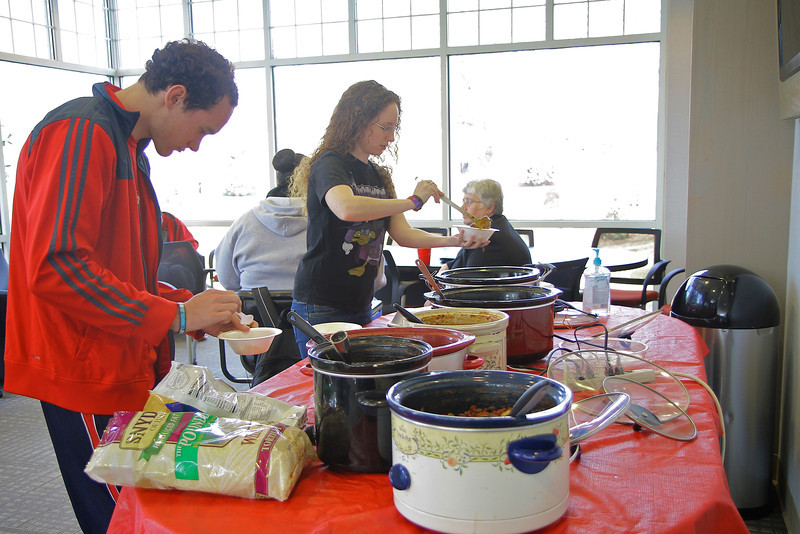 Gardner-Webb's business school hosts the annual Chili reception, providing a welcome meet-and-greet for students and faculty alike.