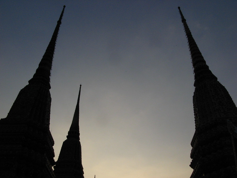 Chedis at Wat Pho.