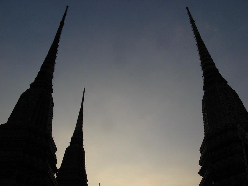 Chedis at Wat Pho.
