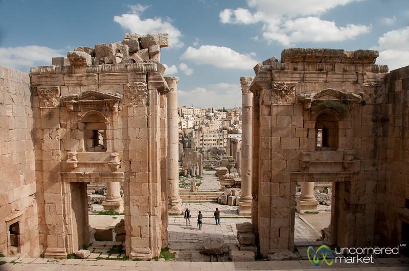 Exiting the Temple of Artemis (Diana) - Jerash, Jordan