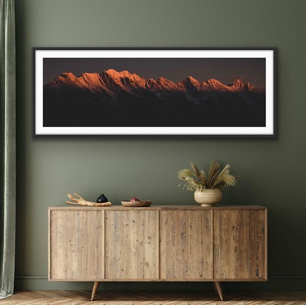 'Alpenglow' Fine Art Print Framed/Unframed