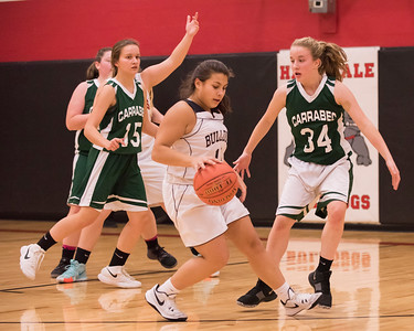 2018 Girls Basketball:  Hall-Dale vs Carrabec