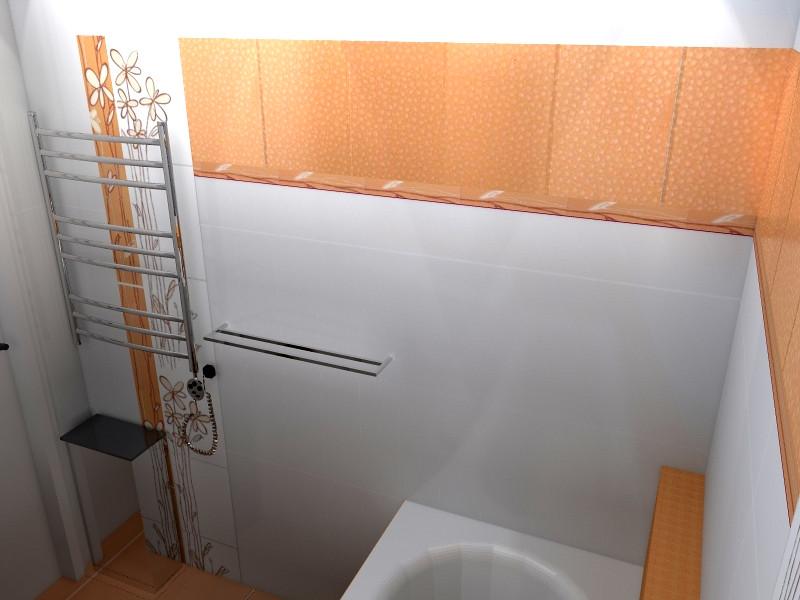 koupelna - pohled z vany na zebrik a obklad.jpg