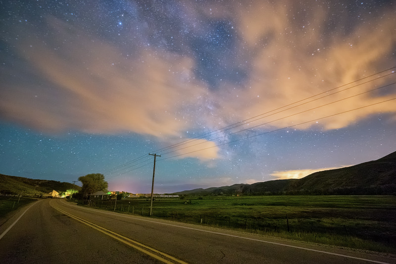 Driving through the Country at Night